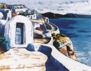 Le puits de Santorin